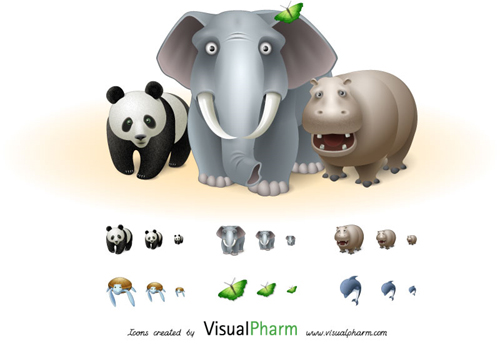 11 Extremely Beautiful (Yet Free) Animal-Themed High Quality Icon Sets 7
