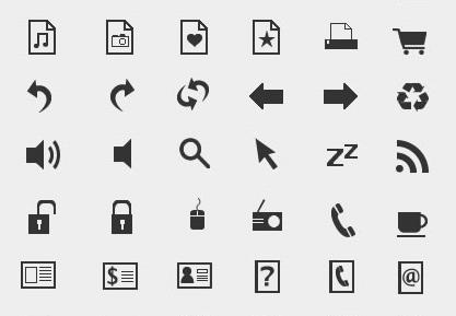 10 Extremely Eye-Catching Minimalist Icon Sets 11