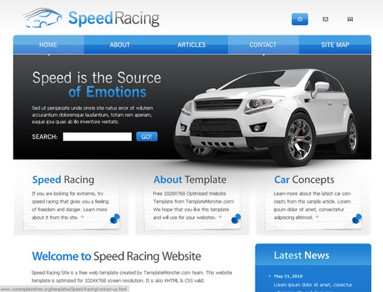 45 Free And High Quality (X)HTML/CSS Website Templates 25