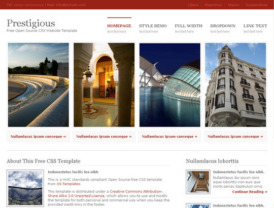 45 Free And High Quality (X)HTML/CSS Website Templates 28