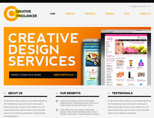 45 Free And High Quality (X)HTML/CSS Website Templates 1