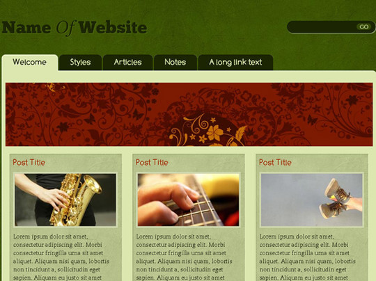 45 Free And High Quality (X)HTML/CSS Website Templates 6