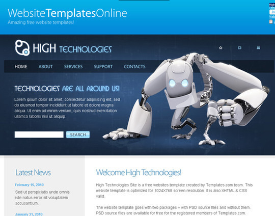 45 Free And High Quality (X)HTML/CSS Website Templates 33