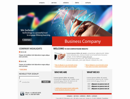 45 Free And High Quality (X)HTML/CSS Website Templates 34