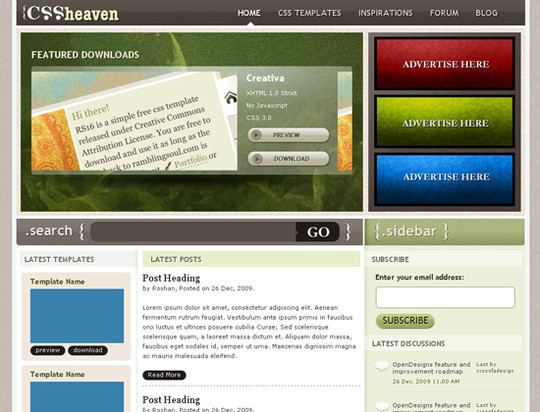 45 Free And High Quality (X)HTML/CSS Website Templates 2