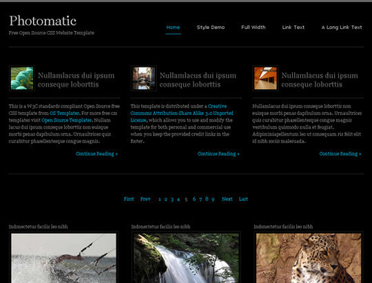 45 Free And High Quality (X)HTML/CSS Website Templates 7