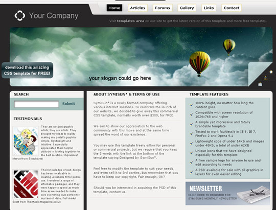 45 Free And High Quality (X)HTML/CSS Website Templates 39