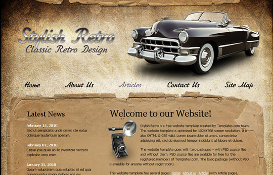 45 Free And High Quality (X)HTML/CSS Website Templates 9