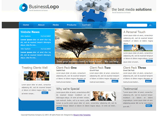 45 Free And High Quality (X)HTML/CSS Website Templates 42