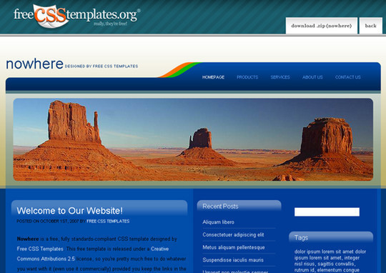 45 Free And High Quality (X)HTML/CSS Website Templates 43