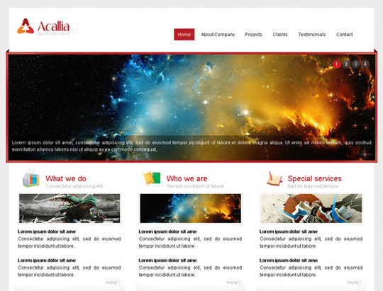 45 Free And High Quality (X)HTML/CSS Website Templates 13