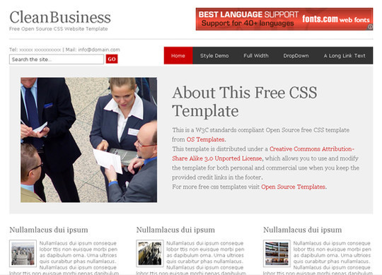 45 Free And High Quality (X)HTML/CSS Website Templates 14