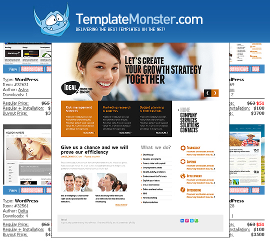 WordPress Themes Giveaway From TemplateMonster 1