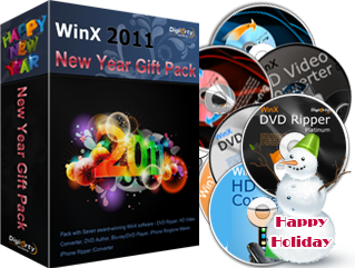 WinX 2011 New Year Gift Pack (7 Software) Giveaway 1