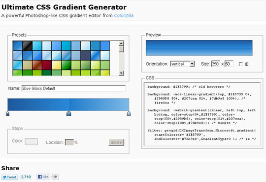 40 Excellent (Yet Free) CSS Tools And Generators For Developers 7