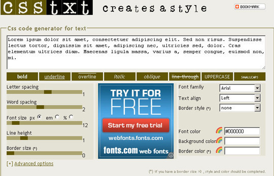 40 Excellent (Yet Free) CSS Tools And Generators For Developers 4