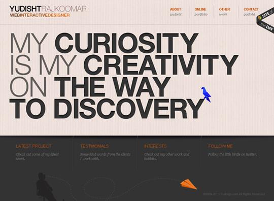 Showcase Of Creative Typography In Modern Web Design 23