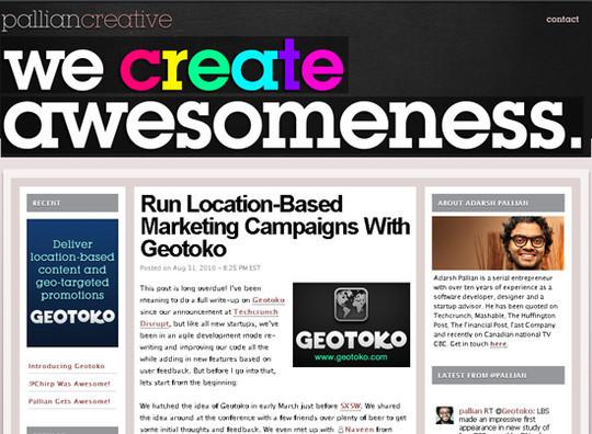 Showcase Of Creative Typography In Modern Web Design 38