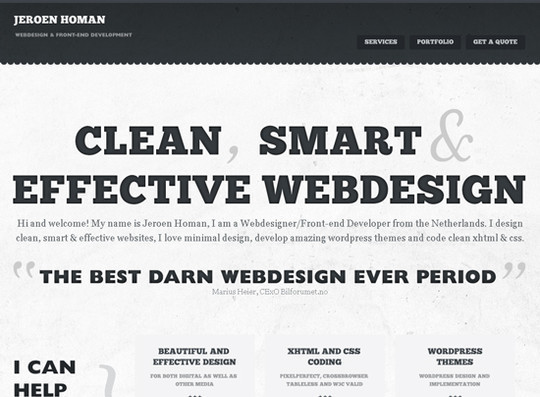 Showcase Of Creative Typography In Modern Web Design 16