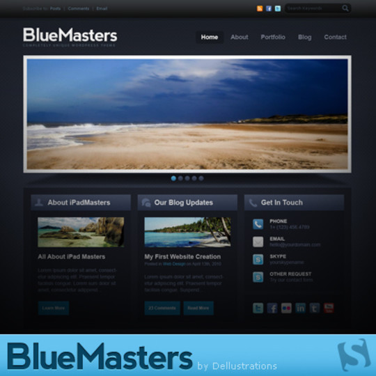 50 High Quality Web Layout PSD Templates Available For Free 12