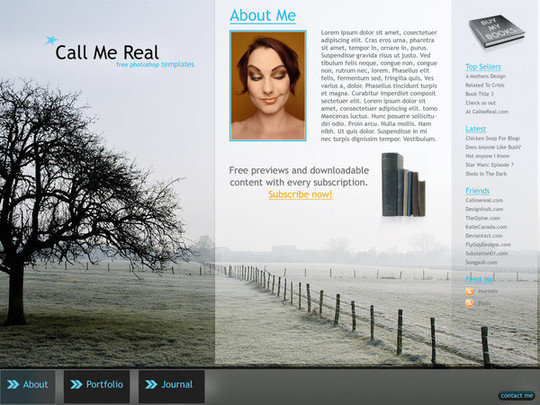 50 High Quality Web Layout PSD Templates Available For Free 4