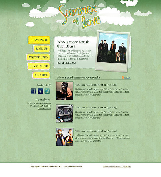 50 High Quality Web Layout PSD Templates Available For Free 23