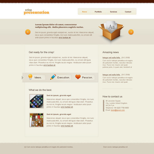 50 High Quality Web Layout PSD Templates Available For Free 13