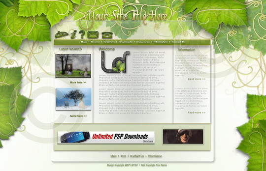 50 High Quality Web Layout PSD Templates Available For Free 26