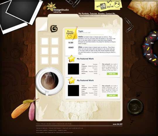 50 High Quality Web Layout PSD Templates Available For Free 10