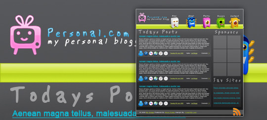 50 High Quality Web Layout PSD Templates Available For Free 28