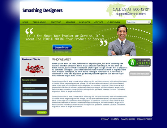 50 High Quality Web Layout PSD Templates Available For Free 30