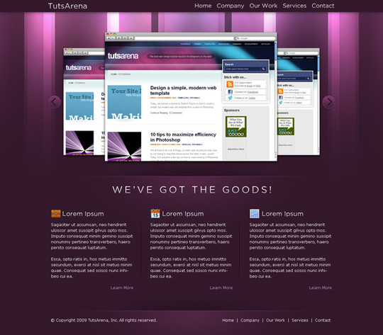 50 High Quality Web Layout PSD Templates Available For Free 14