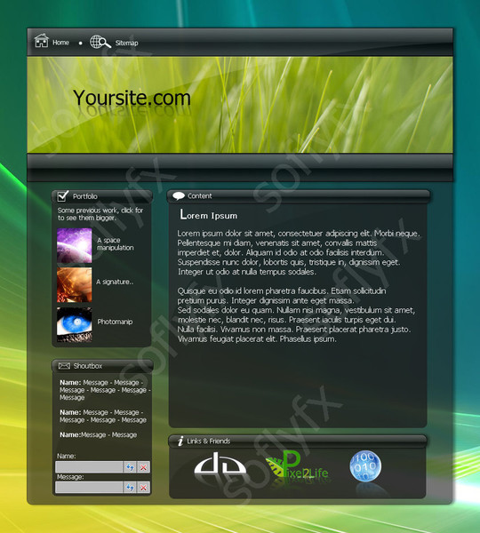 50 High Quality Web Layout PSD Templates Available For Free 33