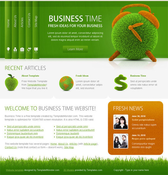 50 High Quality Web Layout PSD Templates Available For Free 7