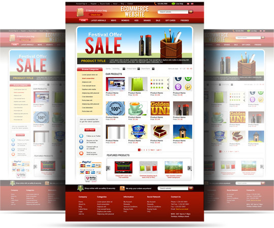 50 High Quality Web Layout PSD Templates Available For Free 42