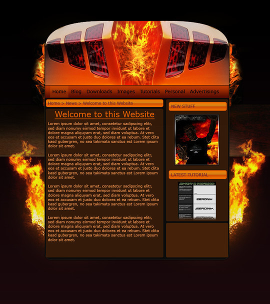 50 High Quality Web Layout PSD Templates Available For Free 43