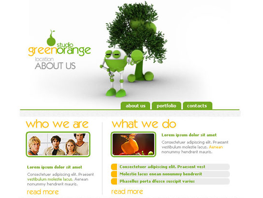 50 High Quality Web Layout PSD Templates Available For Free 46