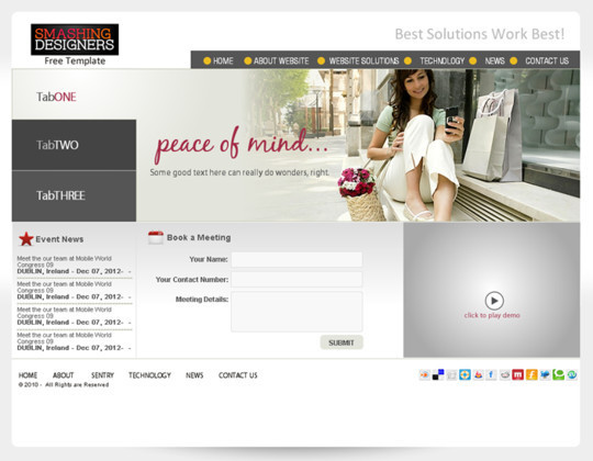 50 High Quality Web Layout PSD Templates Available For Free 41