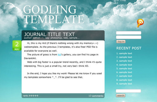 50 High Quality Web Layout PSD Templates Available For Free 16