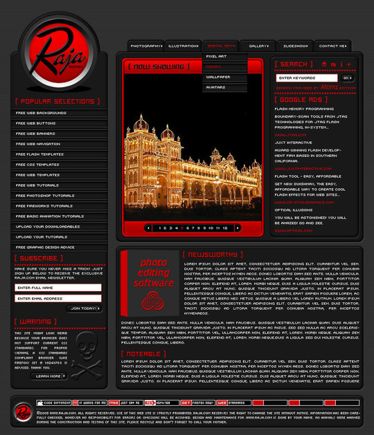 50 High Quality Web Layout PSD Templates Available For Free 17