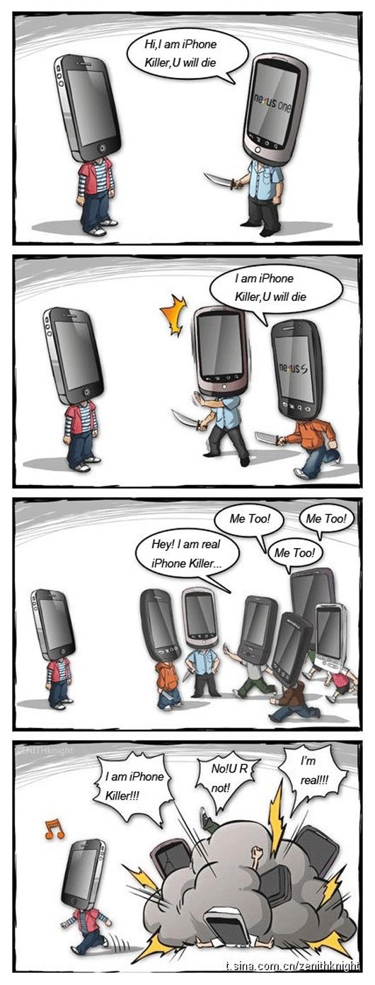 Cartoon: I Am An iPhone Killer! No, You Are Not 17
