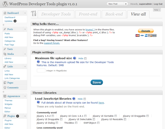 13 Excellent Plugins To Enhance The Power Of Wordpress Admin Section 1