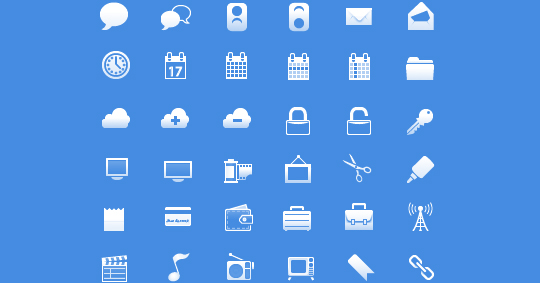 50 High Quality And Free To Use Minimalist Icon Sets 1