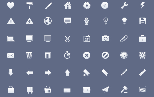 50 High Quality And Free To Use Minimalist Icon Sets 8