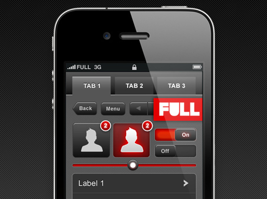 60 Extremely Beautiful Mobile Phones GUI PSD Packs 52