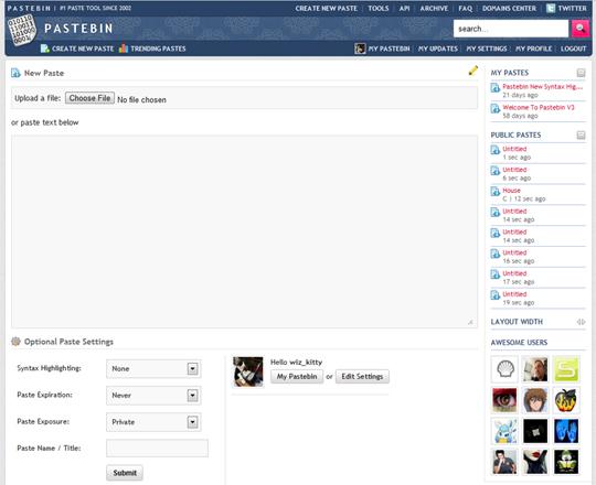 Pastebin Lifetime PRO Accounts Giveaway 1