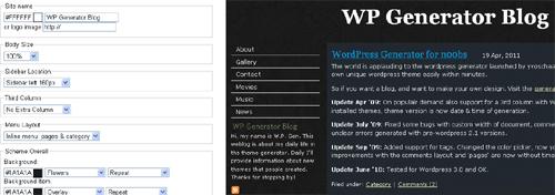 WP Theme Generator - ۴ قالب ساز رایگان وردپرس