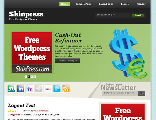50 Fresh and Free WordPress 3 Series Compatible Themes 12