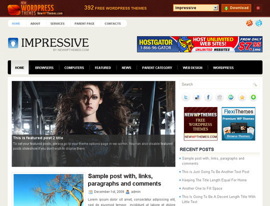 50 Fresh and Free WordPress 3 Series Compatible Themes 22