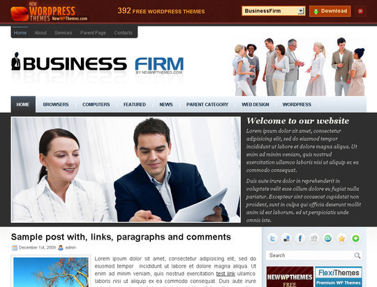 50 Fresh and Free WordPress 3 Series Compatible Themes 25